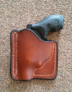 Custom leather Pocket holster for the Ruger LCR - Jackson