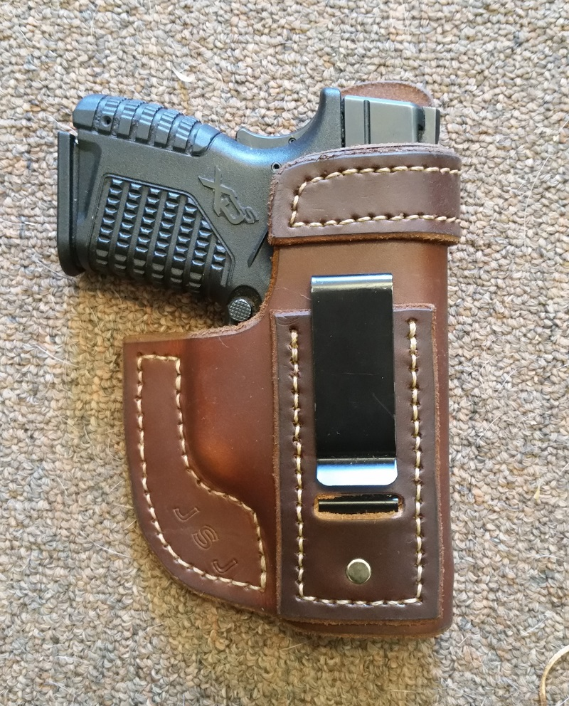 Leather IWB holster Springfield XDS 45 subcompact ...