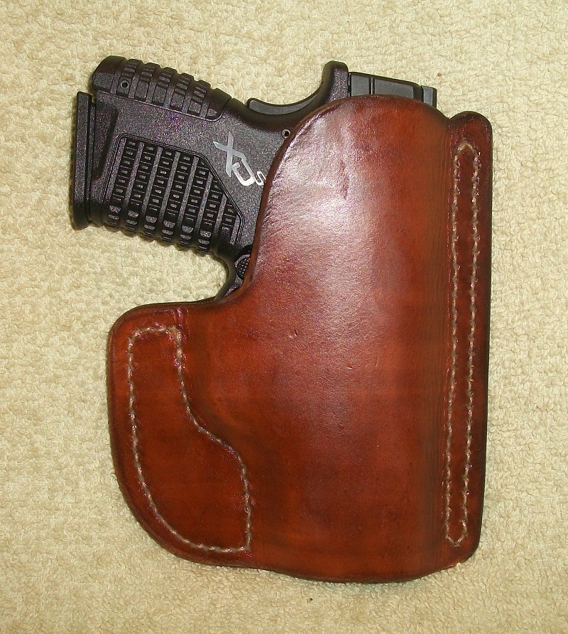 Leather Pocket holster Springfield XDS 45 subcompact
