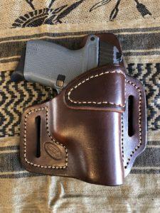 Custom Leather OWB Keltec P11 holster - Jackson LeatherWork, LLC